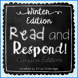 Read and Respond {Winter Cursive Edition}