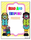 Read and Respond reading comprehension FREEBIE