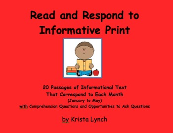 Read and Respond to Informative Text January through May **VALUE BUNDLE**