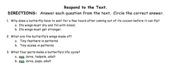 Read and Respond to Informative Text May Collection