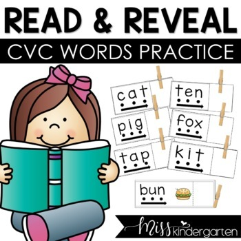CVC Words Read and Reveal cards