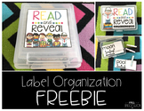 Read and Reveal Label Organization {freebie}