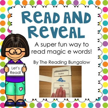 Read and Reveal Silent e Word Blending Practice {Freebie}