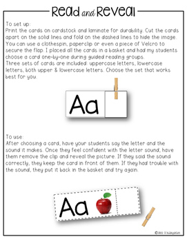 Read and Reveal {letter sounds}