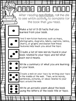 "FREEBIE: ""Read and Roll"" - Reading Responses for Fiction and Non-Fiction"