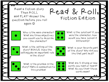 Read and Roll for Fiction and Nonfiction Text!