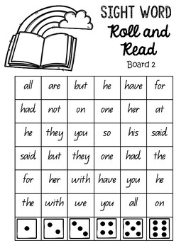 Roll and read sight words!