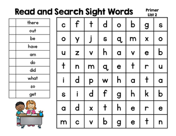 Read and Search Sight Word Puzzles BUNDLE! All 220 Dolch Sight Words Included!