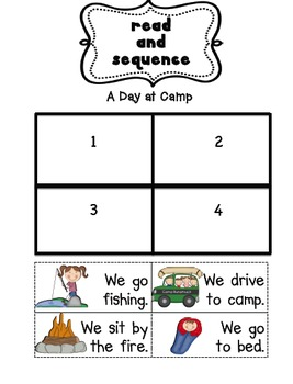 Read and Sequence Going Camping