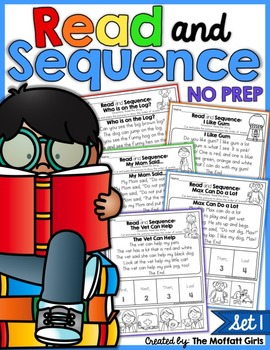 Read and Sequence NO PREP Packet (Set 1) Google™ Classroom Distance Learning