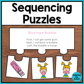 Read and Sequence Puzzles adapted for Special Education and Autism