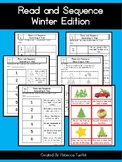 Read and Sequence Winter Edition Cut and Paste