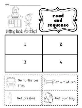 Read and Sequence for Kindergarten: Ready to Print