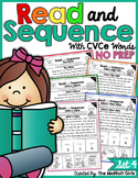 Read and Sequence with CVCe Words NO PREP Packet (Set 4)