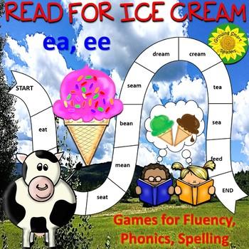 Read, Spell Ice Cream Theme Games (ea, ee)