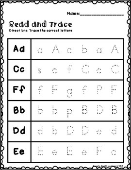 Read and Trace Alphabet