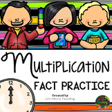 Multiplication Facts Practice (Times Tables Multiplication Drills)