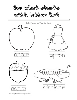 Read and Trace Words Sheets