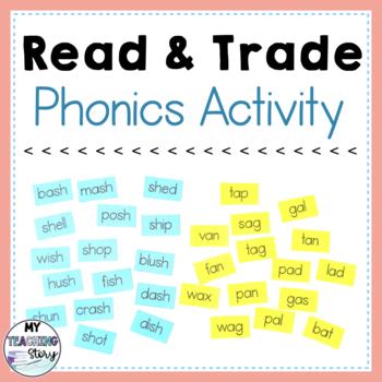 Read and Trade Phonics Activity