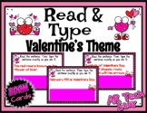 Read and Type Sentences: Valentine's Theme Boom Cards