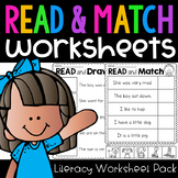 Read and Match Worksheet Pack