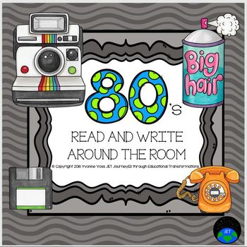 Read and Write Around the Room 80's