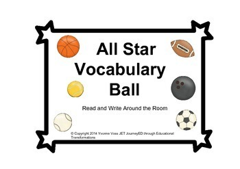 Read and Write Around the Room All Star Vocabulary