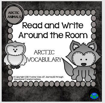 Read and Write Around the Room Arctic Animals Vocabulary
