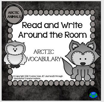 Read and Write Around the Room Arctic Animals Vocabulary