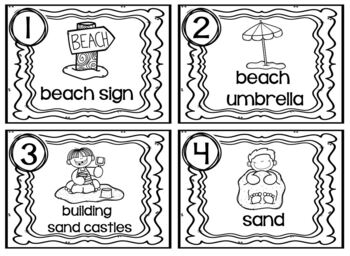 Read and Write Around the Room Beach Day
