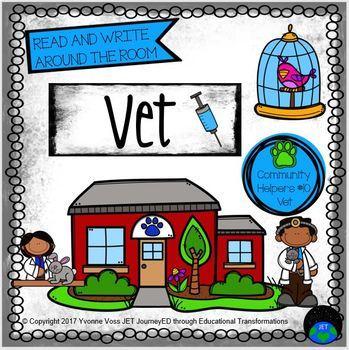 Read and Write Around the Room Community Helpers Series #10 Veterinarian