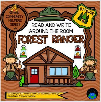 Read and Write Around the Room Community Helpers Series #4 Forest Ranger