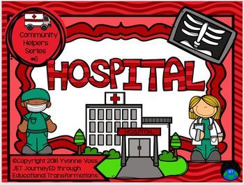 Read and Write Around the Room Community Helpers Series #6 Hospital