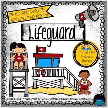 Read and Write Around the Room Community Helpers Series #7 Life Guard
