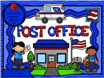 Read and Write Around the Room Community Helpers Series #8 Post Office