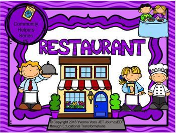 Read and Write Around the Room Community Helpers Series #9 Restaurant