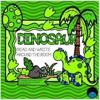 Read and Write Around the Room Dinosaurs