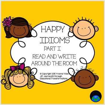 Read and Write Around the Room Happy Idioms