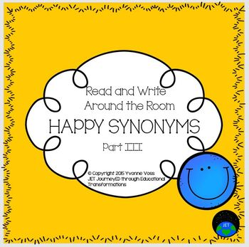 Read and Write Around the Room Happy Synonyms Part III