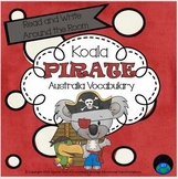 Read and Write Around the Room Koala Pirate Australia Vocabulary