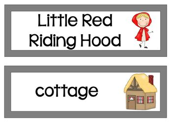 Read and Write Around the Room Little Red Riding Hood