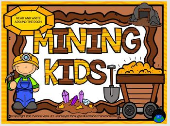 Read and Write Around the Room Mining Kids