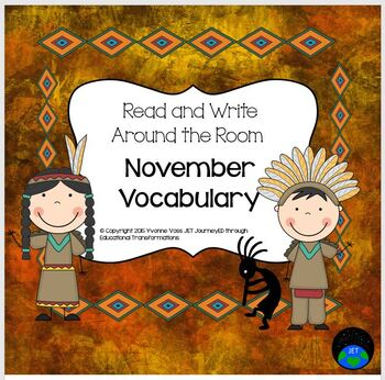 Read and Write Around the Room Native American Vocabulary