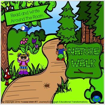 Read and Write Around the Room Nature Walk