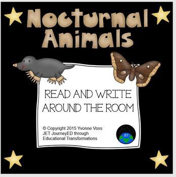 Read and Write Around the Room Nocturnal Animals