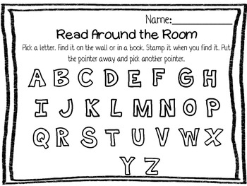 Read and Write Around the Room - Pointers and Recording Sheets