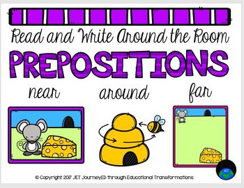 Read and Write Around the Room Prepositions