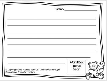 Read and Write Around the Room School Supply Vocabulary
