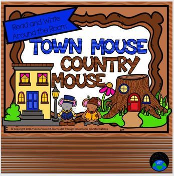 Read and Write Around the Room Town Mouse and Country Mouse