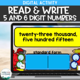 Read and Write Big Numbers: 5 and 6 digit numbers place va